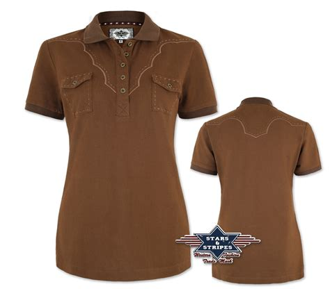 polo shirt damen damen polo shirt im westernstyle schwarz linedanceshop ch