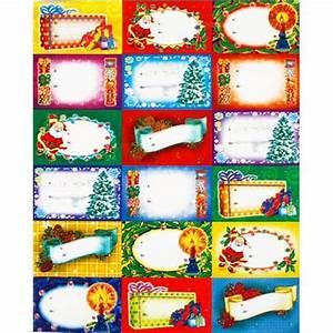 étiquettes De Noel à Imprimer : planche de 18 etiquettes pour nom sur cadeau noel achat ~ Melissatoandfro.com Idées de Décoration
