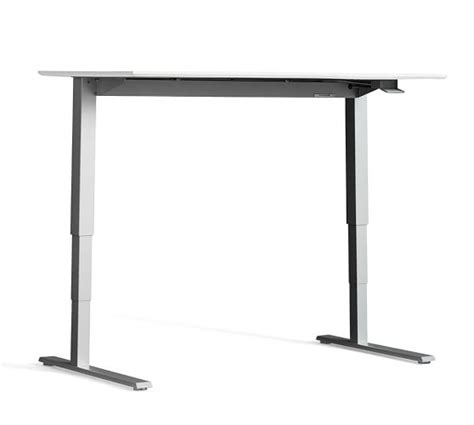 humanscale standing desk humanscale 174 sit stand desk silver base pottery barn