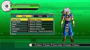 All Beerus clothes in Dragon ball Xenoverse - YouTube