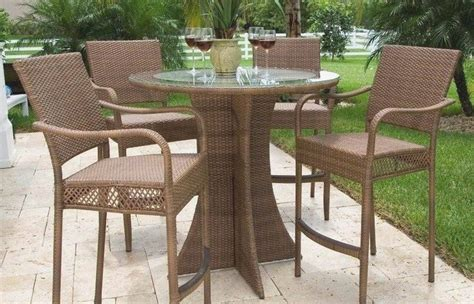 outdoor high top table set patio  chairs modern ideas