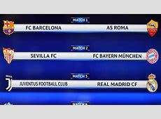 Resultado Sorteo Champions JuveReal Madrid, BarçaRoma y