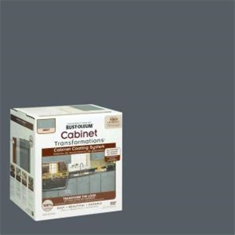 rust oleum transformations 1 qt gray cabinet small kit