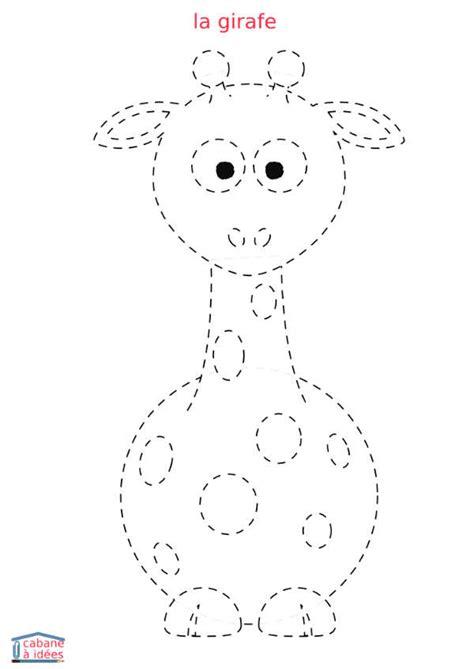 jeu de chambre tracé en pointillés girafe cabane à idées