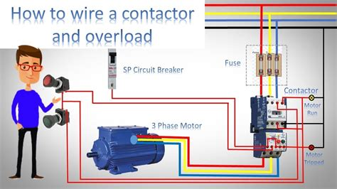 how to wire a contactor and overload direct online st