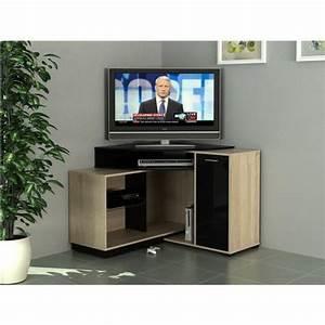 Meuble D Angle Pas Cher : meuble tv angle pas cher meuble tele 120 cm maisonjoffrois ~ Teatrodelosmanantiales.com Idées de Décoration