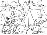Camping Imprimir Colorear Coloring Verano Dibujo Colouring Boy Colorir Printable Paracolorear Desenhos Rio Imagen Lake Dibujos Pescando Ver Pintar Acampamento sketch template