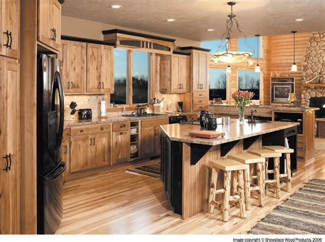 Hickory Kitchen Cabinets Wholesale by Popular Knotty Hickory Cabinets Kitchen 3 Design Kitchen