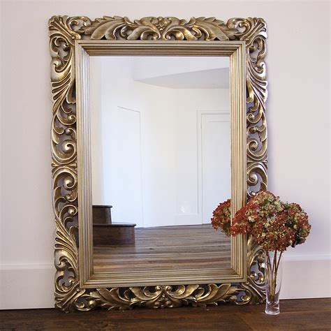 fleur decorative gold wall mirror primrose plum