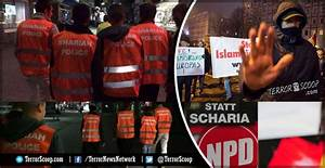 Germany: Sharia Police with Islamic State logo patrolling ...