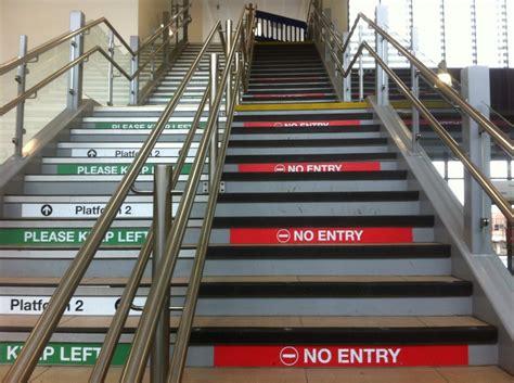 stair nosings  railway station  wakefield west yorkshire