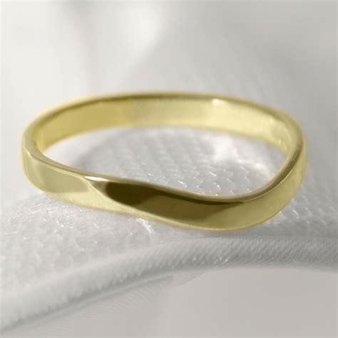 18ct gold curved wishbone berridale wedding ring by jacqueline edward notonthehighstreet com