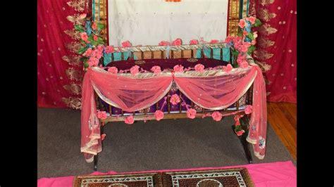 diy easy cute cradle decoration naming ceremony youtube