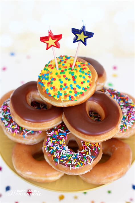 krispy kreme donut birthday cake happiness  homemade