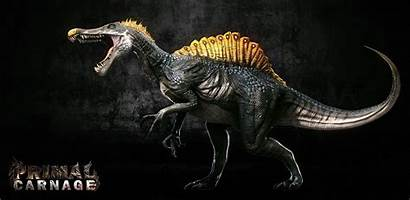Wallpapers Spinosaurus Velociraptor Cave
