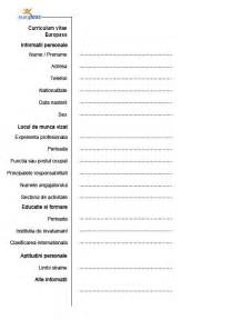 curriculum vitae romana model modele cv pentru angajare cv anonyme