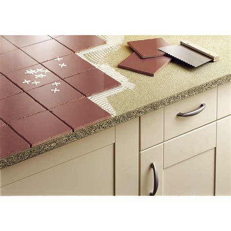 plan de travail carrelé cuisine plan de travail aggloméré à carreler mat l 185 x p 63 cm