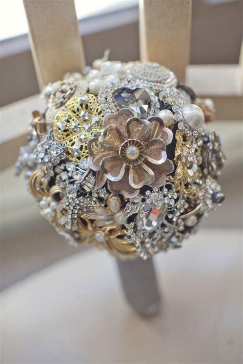 Vintage Brooch Bridal Bouquet Vintage Brooch Bouquets