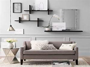 Living room storage shelves floating