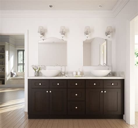 dark chocolate shaker bathroom vanity rta bathroom