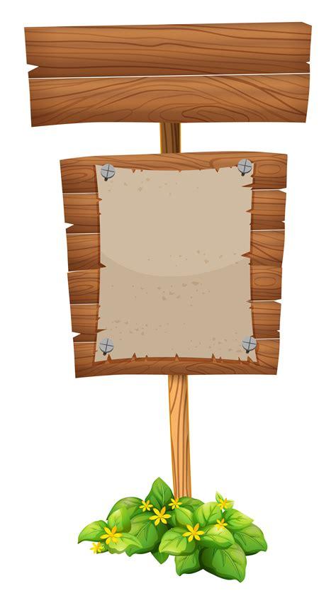Blank paper on wooden sign - Download Free Vectors, Clipart Graphics & Vector Art
