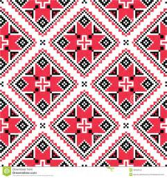 ukrainian traditional folk knitted embroidery pattern stock photo image 40893156