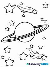 Coloring Saturn Pages Planet Comet Space Print Comets Drawing Discovery Asteroids Nasa Printable Spaceship Clipart Rocket Getcolorings Getdrawings Clip Activities sketch template