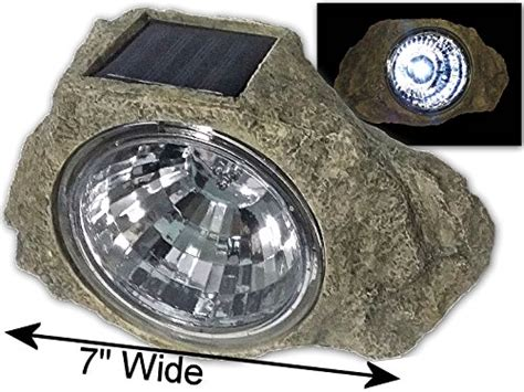 large 7 wide garden solar rock lights outdoor landscape