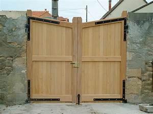 Portail En Bois : portail bois exotique ~ Premium-room.com Idées de Décoration