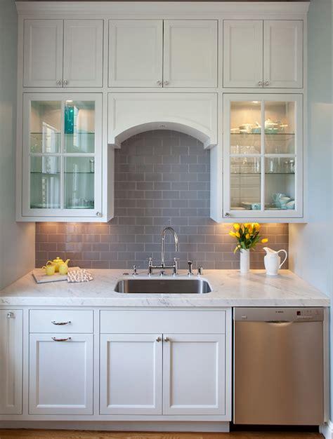 grey kitchen cabinets with backsplash gray subway tile backsplash design ideas