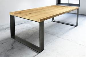 Industrial Design Möbel : esstisch industrial arlon eiche 6cm wohnsektion ~ Markanthonyermac.com Haus und Dekorationen