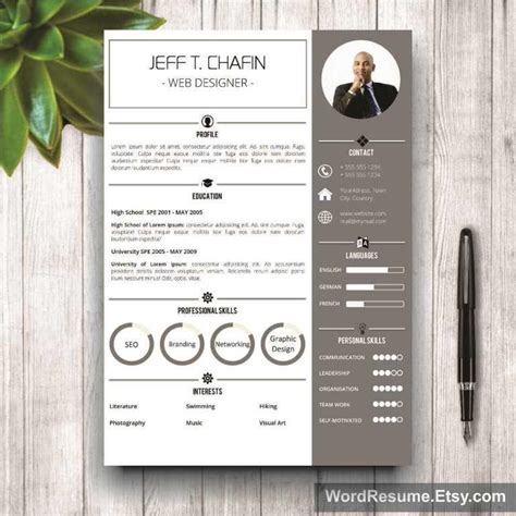creative resume templates word professional resume template design jeff t chafin