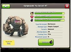 Lets play Clash of Clans Buying Golem MAX LEVEL 4 with