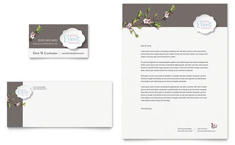 wedding planner business card letterhead template design