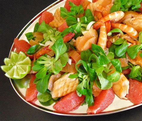 cuisine vert olive salade saumon crevettes plemousse la recette facile
