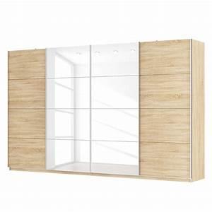 Schwebetürenschrank 4 Türig : schwebet renschrank sk p eiche sonoma dekor hochglanz wei 360 cm 4 t rig 222 cm ~ Indierocktalk.com Haus und Dekorationen