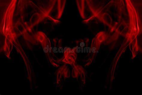Red Smoke Devil Background Stock Photo Image Of Danger
