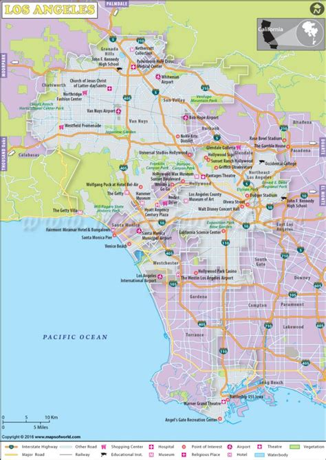 buy los angeles city map