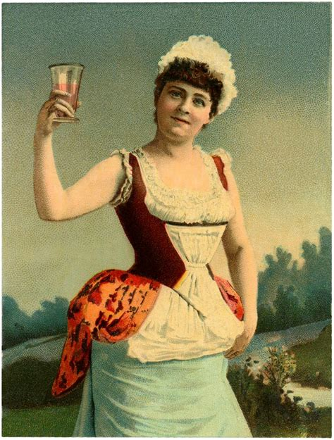 fun vintage woman toasting image  graphics fairy