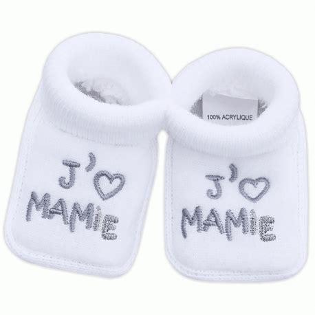 chambre de bébé aubert chaussons pour bébé mixte brodés j 39 aime mamie gt babystock