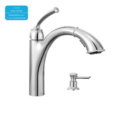 cheap moen kitchen faucets sullivan 1 handle reflex pullout kitchen faucet with soap