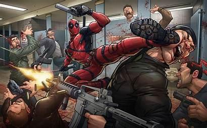 Deadpool Marvel Comics Comic Fondos Wallpapers 4k