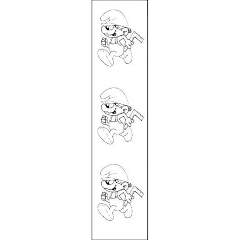 segnalibri per bambini da colorare e stare disegno di segnalibro puffo inventore da colorare per