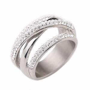 316l stainless steel wedding rings for women engagement for Cz wedding rings for women