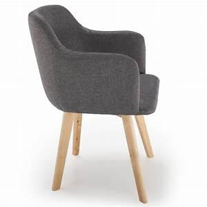 Chaise Tissu Design : chaise scandinave design tissu gris fonc pas cher scandinave deco ~ Maxctalentgroup.com Avis de Voitures