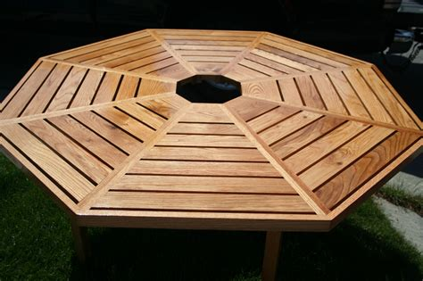 wood work   build octagon picnic table  plans