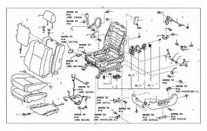 2016 Toyota Tacoma Seat Back Recliner Adjustment Mechanism