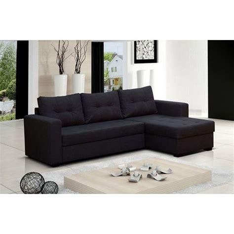 canapé d angle noir cdiscount canapé d 39 angle 4 places lauris couleur noir ang achat