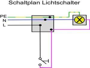 schaltplan lichtschalter ausschaltung anschliessen