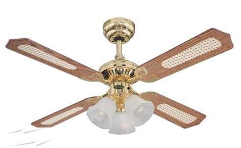 78199 westinghouse ceiling fan 105cm 42 inch 4 blade ceiling fan in polished brass princess
